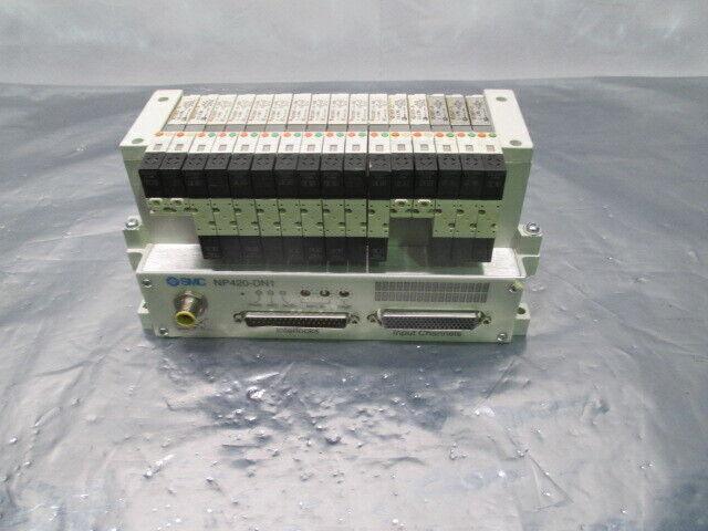 SMC VV5Q11-ULB970095, 16 Valve Pneumatic Manifold w/ NP420-DN1, 423551