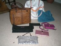 SELECTION OF HANDBAGS AND PURSES - OASIS, IVY AND FIG, OLD NAVY, DUNE