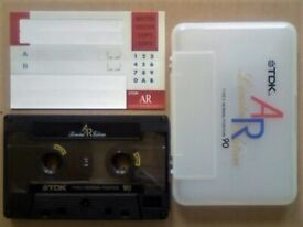 RARE TDK AR 90 LIMITED EDITION PREMIUM QUALITY AUDIOPHILE CASSETTE TAPES. 1988-1989 WHITE CASE ISSUE