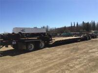 40 Wheeler Low Boy Equipment Trailer with jeep  & booster combo Edmonton Edmonton Area Preview