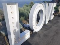 Giant LOVE sign for rent