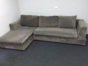 Grey L Shape Lounge - High Quality - Delivery Available North Ryde Ryde Area Preview