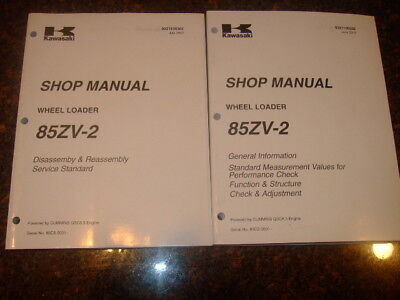 Kawasaki 85zv-2 Wheel Loader Shop Service Manual