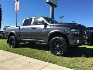 2016 RAM 1500 SPORT LIFTED, FLARES, RIMS/TIRES, GORGEOUS !!