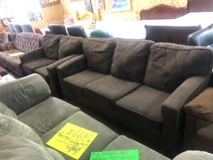 AN EXCELLENT DEAL ON A MATCHING SOFA AND LOVESEAT
