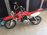 2005 Honda CRF50 with adult bars/pegs