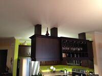Haut d'armoire de cuisine en mélamine