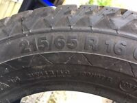 Winter Tyres 215/65 R16, Continental VancoViking Contact 2 - quantity 4, light use