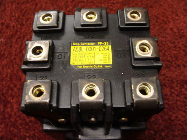 FANUC MISC. A58L-0001-0264 FF-35 MAGNETIC CONTACTOR IS REPAIRED 30 DAY WARRANTY