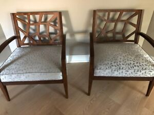 NEW PRICE **Stylish Contemporary Occasional Chairs**