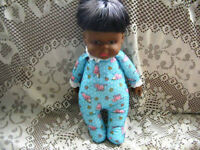 "14"" 1984 MATTEL BROWN DROWSY ADORABLE DOLL, BLUE PJS, TAGS"