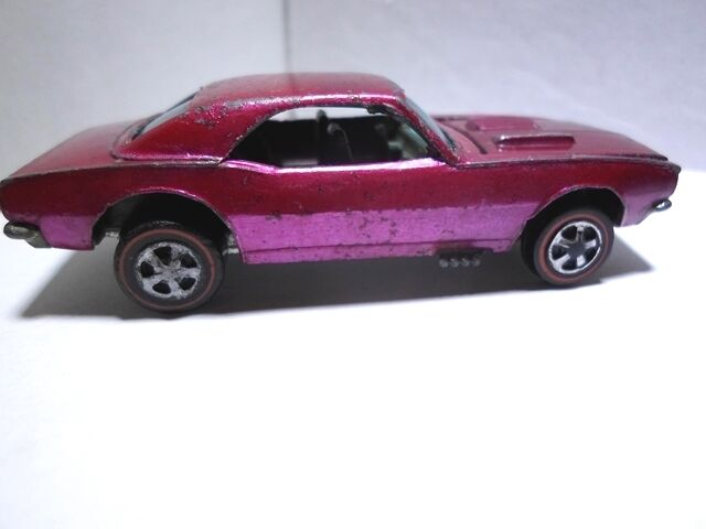 Hot Wheels Redline Custom Camaro Creamy Pink with Dark Interior Hybrid USA Nice