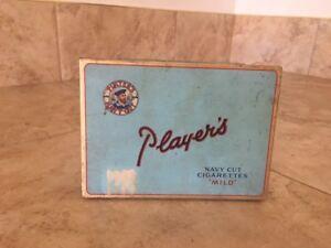 boite à cigarettes Player's, métal, vintage