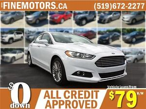 2015 FORD FUSION SE * LEATHER * REAR CAM * AWD * SHOWROOM FINISH