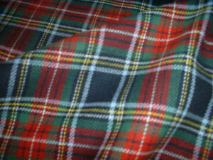 100% Brushed Cotton Soft Tartan Fabric - 150cm (59