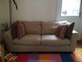 Marks and Spencer Beige Fabric Sofa x2