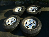 Chevrolet Rims with Goodyear Wrangler Tires, full set $350