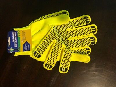 Traffic Control Safety Gloves Neon Yellow - Construction Walking Camping