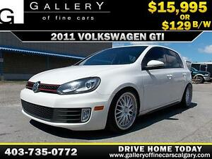 2011 Volkswagen Golf GTI 2.0T $129 Bi-Weekly APPLY NOW DRIVE NOW