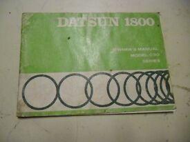 Datsun 1800 C30 - Owners manual.