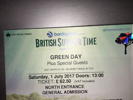 3 Tickets : Green Day - British Summer Time - London (Hyde Park)