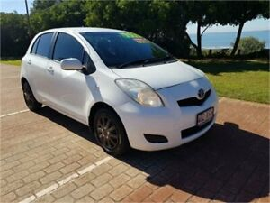 2011 Toyota Yaris NCP90R 10 Upgrade YR White 5 Speed Manual Hatchback Cleveland Redland Area Preview