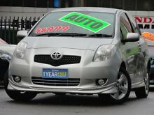2007 Toyota Yaris NCP91R 06 Upgrade YRX Silver 4 Speed Automatic Hatchback Homebush Strathfield Area Preview
