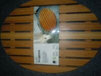 NEW DESIGNER BAMBOO BATH SHOWER DUCK BOARD SOAP DISH