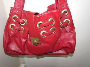 LARGE RED LEATHER PURSE AS NEW