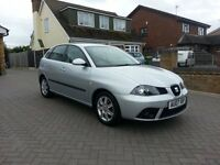 2007 SEAT IBIZA 1.4 STYLANCE, 67K, 5 DOOR, LONG MOT, LOVELY CAR, VW POLO. VOLKSWAGON ENGINEERING