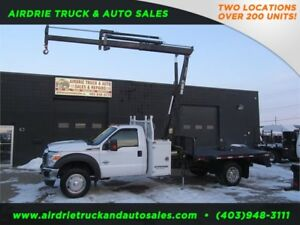 2011 Ford F-550 DRW 060 Hiab  Picker Truck 11 Feet Flat Deck !!