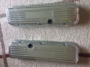 Chrome big block chev valve covers
