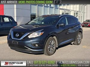 2017 Nissan Murano SL AWD | Navi, Pano Moonroof, Leather Htd Sea