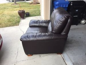 Big faux leather chair