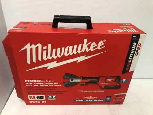 NEW Milwaukee 2672-21 ForceLogic M18 Cable Cutter Kit w/ 750 MCM Cu Jaw