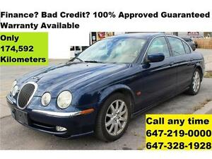 2001 Jaguar S-TYPE Auto Leather FINANCE 100% APPROVED WARRANTY