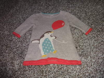 BABY MINI BODEN 0-3 PENGUIN BALLOON SWEATER STYLE DRESS DARLING (Penguin Baby Dress)