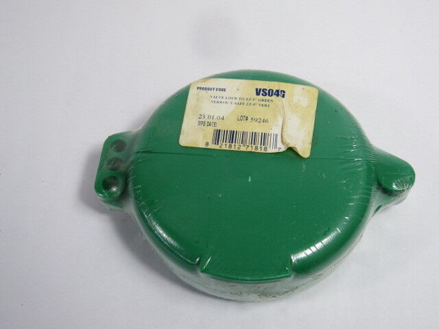 "North VS04G Green Lockout for Wheel Valve for Size 2-1/2-5""  NEW"