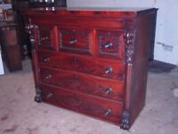 antique scottish chest of drawers