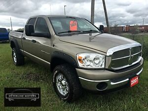 "2007 Dodge Ram 1500 4X4, LIFTED, 33""TIRES, FLARES, ACCIDENT FREE"