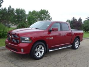 2014 Ram 1500 4WD CREWCAB SPORT Accident Free,  Leather,  Heated