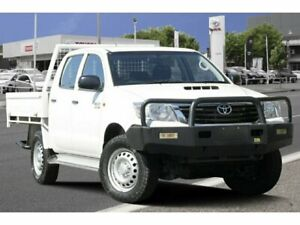 2015 Toyota Hilux KUN26R MY14 SR Double Cab Glacier White 5 Speed Automatic Cab Chassis