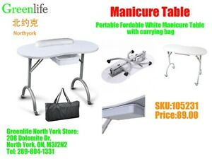 Portable & station Manicure Table for Nail Salon/Spa, From $89