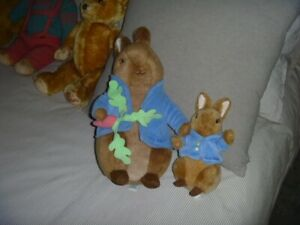 Peter rabbit plush toys large and small