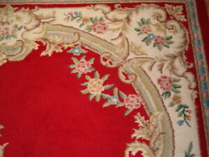 Ruby Red Aubusson rug