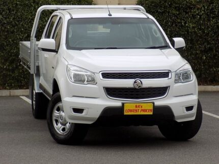 2013 Holden Colorado RG MY13 LX Crew Cab White 6 Speed Sports Automatic Cab Chassis Blair Athol Port Adelaide Area Preview