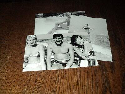 SHEILA LOT DE PHOTOS FORMAT 10*15 N&B - THEME 019 PLAGE - 3 PICS Françoise Hardy