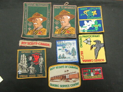 International Scout Patch Lot, Mostly Canadian, Lot of 40 plus Patches     COV10