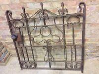 Elegant vintage wrought iron single garden gate