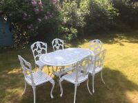 Garden Patio Set with 6 Chairs